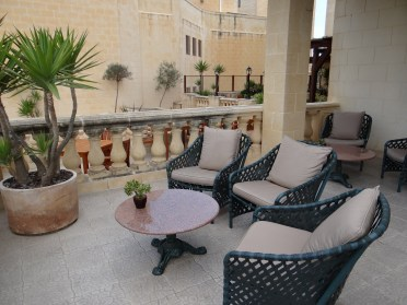 Kempinski Gozo patio lounge to smoke