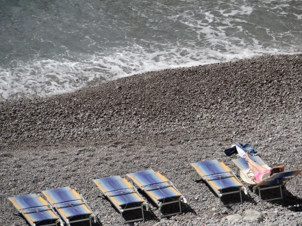Amalfi Coast beach view