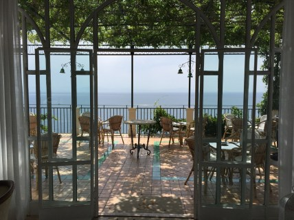 Hotel Santa Caterina patio photo view of Amalfi Coast