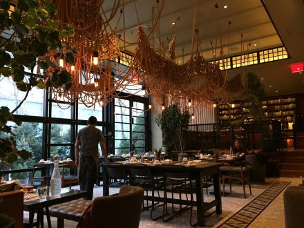 The Vine dining room at the Eventi Hotel