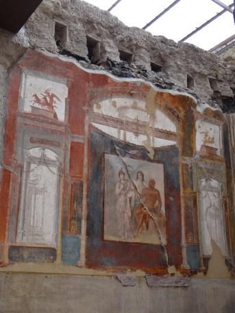Herculaneum frescoed walls