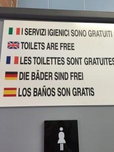 Herculaneum free bathroom Italy