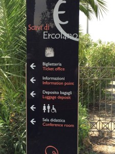 Herculaneum guide sign