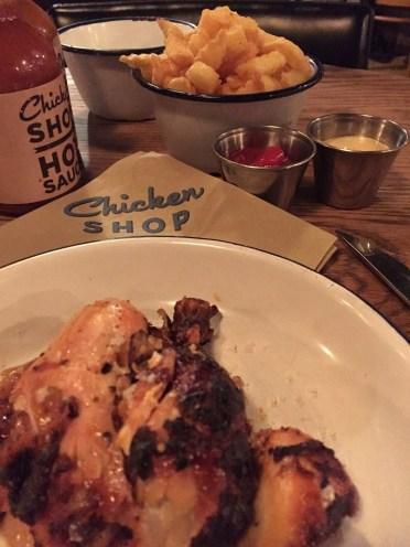 Chicken Shop London lunch