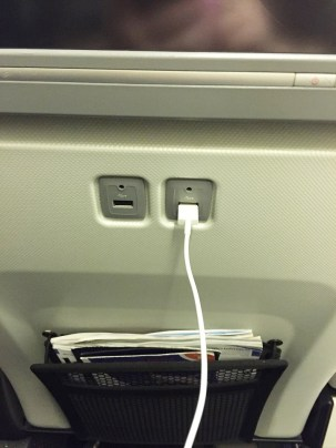 World Traveller Plus British Airways charge my devices