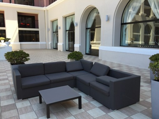 Westin Malta outdoor patio lounge