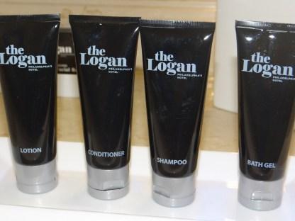 The Logan Hotel toiletries