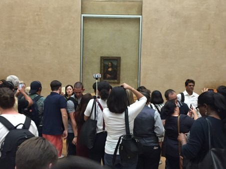 Mona Lisa crowds at the Louvre