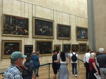 Mona Lisa Gallery at the Louvre paintings