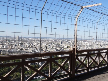 Visit the Eiffel Tower 2nd floor view of paris