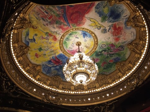 The Chagall ceiling Paris Opera tour