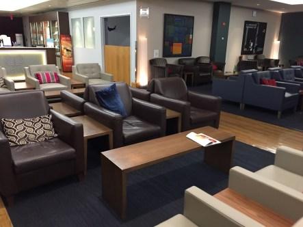 BA Lounge JFK seating area