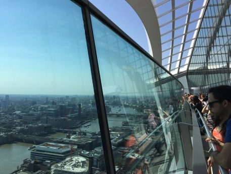 Sky Garden London view of Thames from above