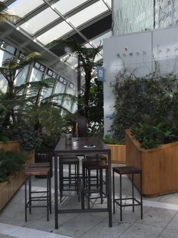 Sky Pod Bar seating at Sky Garden London