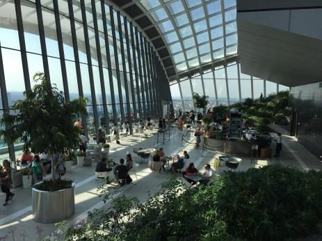 Sky Garden London View inside