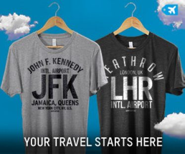 Airport Tag Airport Code TShirt Holiday Gift Guide for Travelers