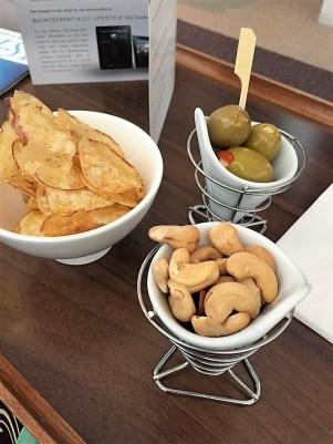 BA Concorde Room snacks