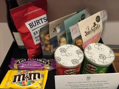 My Bloomsbury Hotel minibar snacks
