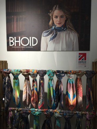 Bhoid scarves luxury fashion made in Britain