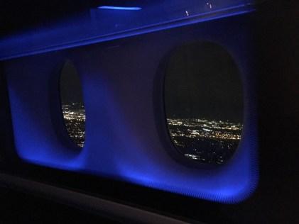 British Airways First Class Night view