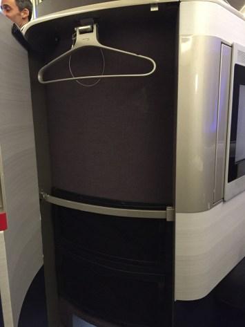 British Airways First Class Storage