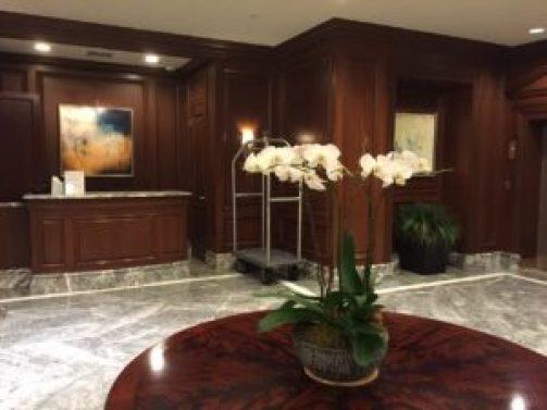 Westin Philadelphia arrival lobby