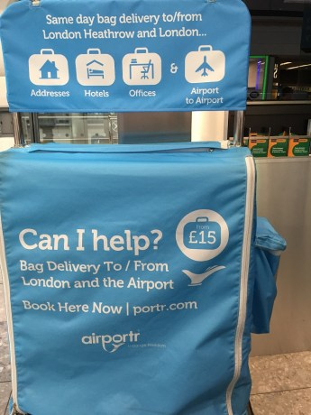 AirPortr T5 Heathrow Luggage Delivery London