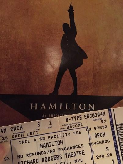 One Ticket to Hamilton on Broadway