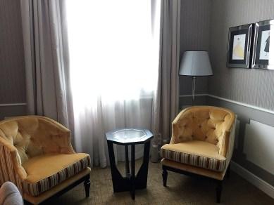 Westin Milan King Room Seating area