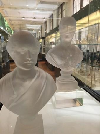 V&A Musuem Glass busts
