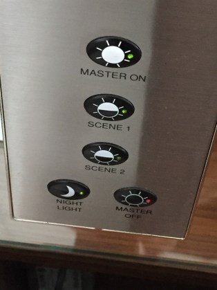 Edinburgh Sheraton Grand bedroom controls
