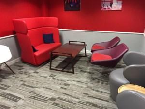 Virgin First Class Lounge Edinburgh seating