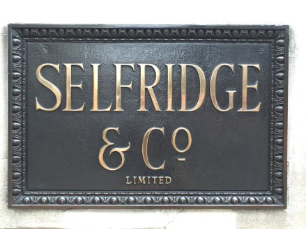 Selfridge & Co Sign London
