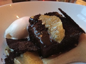 The Grazing Goat chocolate dessert