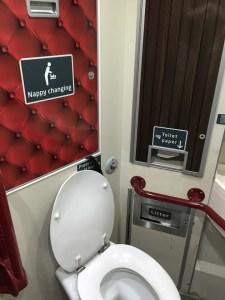 Virgin East Coast Train Accessible Toilet Train Edinburgh to London