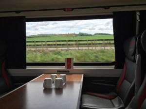 Scenic View East Coast Train Edinburgh to London