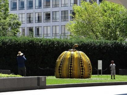 Art Weekend in D.C. Kusama Pumpkin Hirshhorn