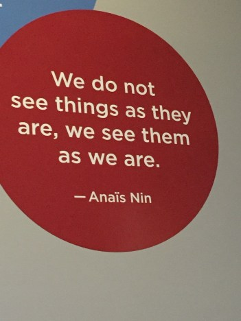 Art Weekend in D.C. Anais Nin Quote