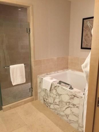 Four Seasons Seattle bathroom shower tub