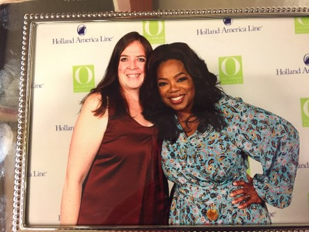 Philatravelgirl photo with oprah on alaska holland america Eurodam cruise