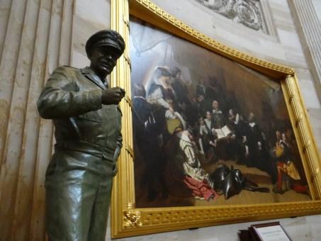 US Capitol Rotunda Eisenhower Statue and Painting