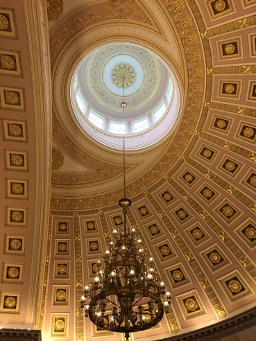 National Statuary Hall Dome and Chandelier US Capitol