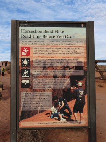 Horseshoe Bend Know Before You Go Board