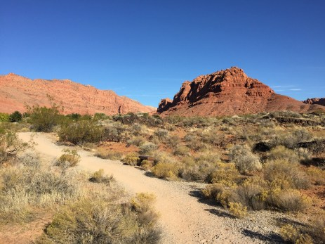 Walking to Snow Canyon Park from Red Mountain Resort Solo Wellness