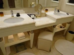 The Wynn Hotel Bathroom Dual Sinks