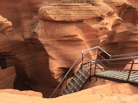 Lower Antelope Canyon ladders entrance