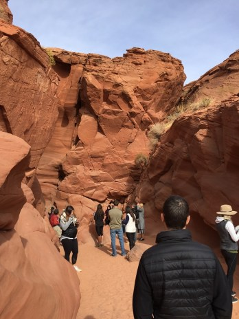 Upper Antelope Canyon wait to go back through