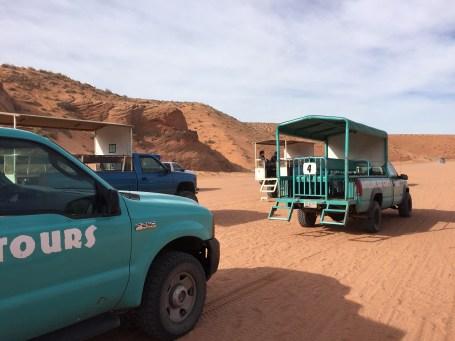 Upper Antelope Canyon Tour Trucks