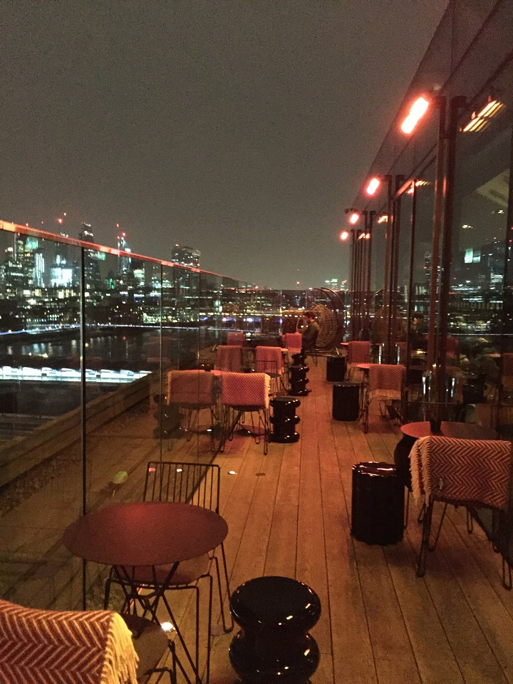 Mondrian London Hotel Rooftop Bar Rumpus Room - PhilaTravelGirl