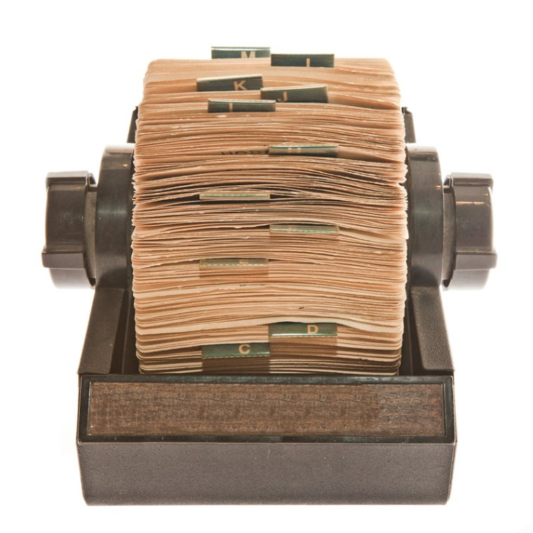 Rolodex -- an obsolete sales tool